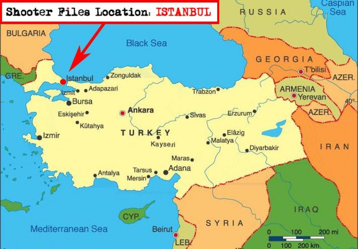 Istanbul Turkki Kartta Kartta Istanbul Ja Lahialueen Maissa